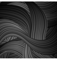 Black striped waves abstract pattern design vector
