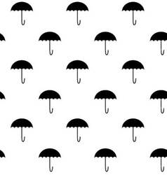 Black white pattern umbrella vector image