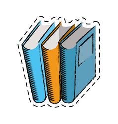 cartoon book library read learn vector image