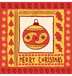 Christmas with ball vector image vector image
