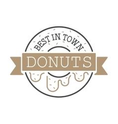 Circle ring donuts design company vector