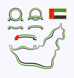 Colors of United Arab Emirates vector image