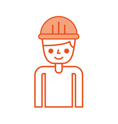 construction builder avatar character vector image vector image