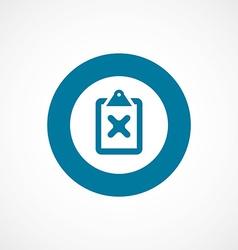 Denied bold blue border circle icon vector