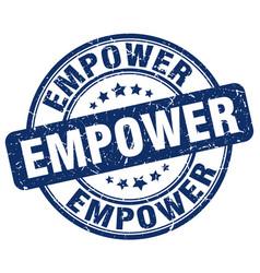 Empower blue grunge stamp vector