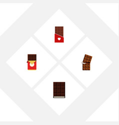 Flat icon chocolate set of wrapper chocolate vector