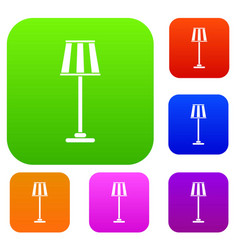 Floor lamp set collection vector