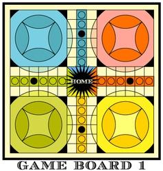 Game board for parcheesi vector