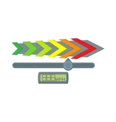 Gauge speedometer icon cartoon style vector