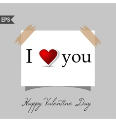 happy valentines day cards with heart on vector image