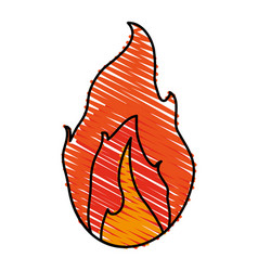 Hot fire flame vector