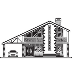 House graphics vector image vector image