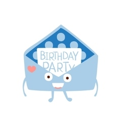 Invitation mail envelop children birthday party vector