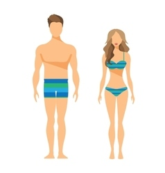Man and woman flat vector