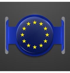 modern euro flag design vector image vector image