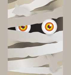 Mummy face vector