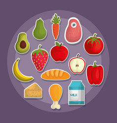 Nutrition concept design vector
