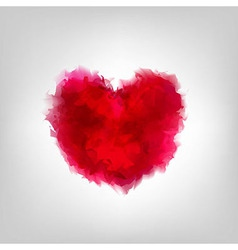 Red Water color Heart vector image vector image