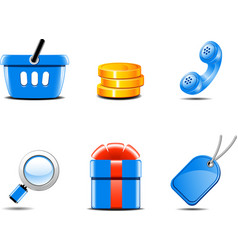set of icons for online shop vector image vector image