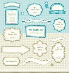 set of retro design elements vector image