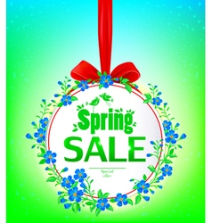 Spring sale banner vector image vector image