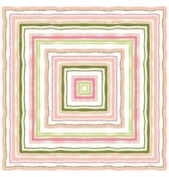 Striped rectangle ornamental pattern square vector
