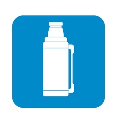 Thermos container icon camping hiking equipment vector