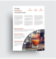 universal design flyer for advertising business vector image