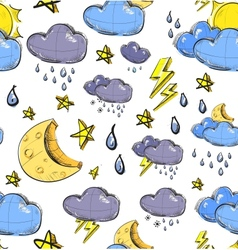 Weather seamless colorful pattern vector image vector image