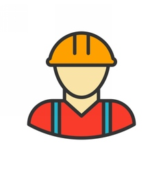 Worker outline icon vector