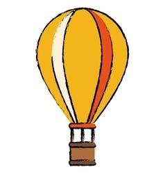 yellow airballoon travel recreation adventure vector image