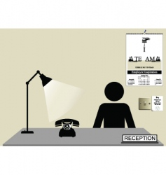 Reception desk vector