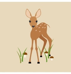 Fawn on a beige background vector