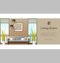 Interior design modern living room background 7 vector