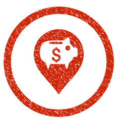 bank pointer rounded grainy icon vector image