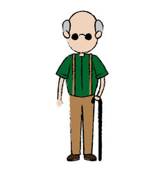 grandfather parent male member of family walking vector image