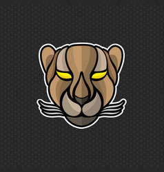 cheetah logo design template cheetah head icon vector image