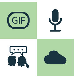 Social icons set collection of conversation vector