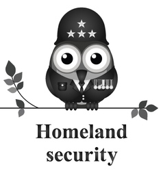 Homeland security vector image