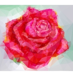 Triangular style rose vector