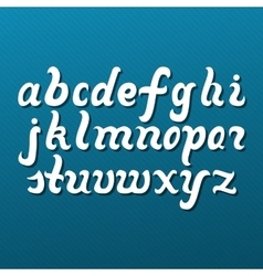 Lowercase alphabet letters vector