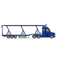 Semi truck trailer 17 vector