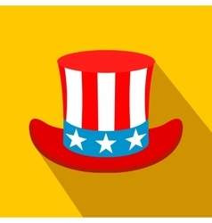 Hat in the USA flag colors flat icon vector image