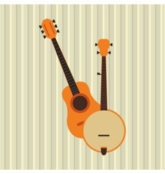 Musical instrument icon design vector