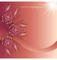 decorative cover template five vector image