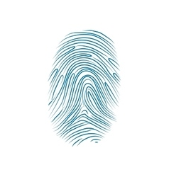 Imprint of the thumb finger human hand on white vector