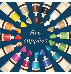 Art supplies for school vector