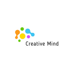 brain storming business isolated logo vector image