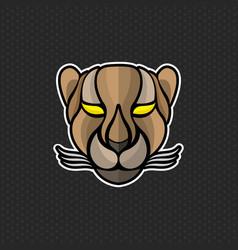 Cheetah logo design template cheetah head icon vector