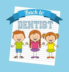 Children dental care vector